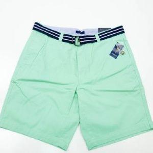 Club Room Men's Shorts Cotton Flat Front Neptune B